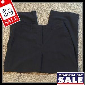 Larry Levine Solid Black Casual Dress Pants